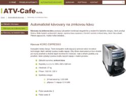 Automatické kávovary na zrnkovou kávu